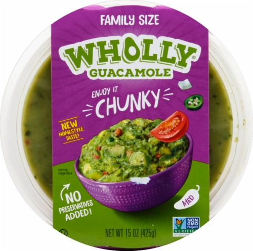 Wholly Guacamole® Chunky Medium Guacamole Family Size Perspective: front