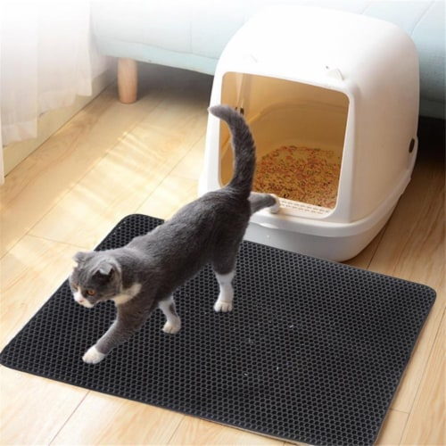 3P Experts 3PX-CATSLTRMAT Cat Mat - Litter Box Companion Perspective: front