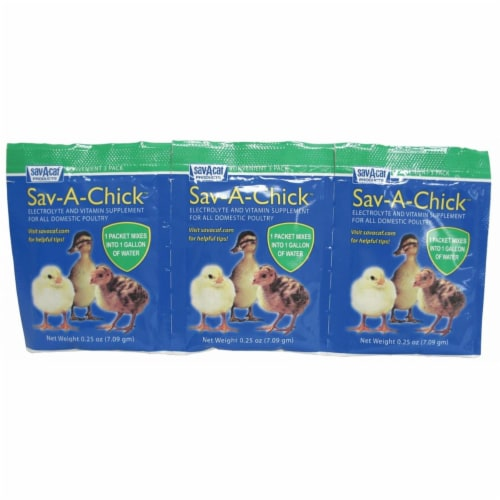 Milk Products,inc Sav-a-chick Electrolyte & Vitamin Supplement 3 Pack-.25ounce - 01-7451-0202 Perspective: front