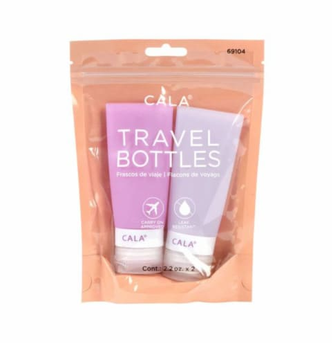 CALA Silicone Travel Bottles - Lavender Perspective: front