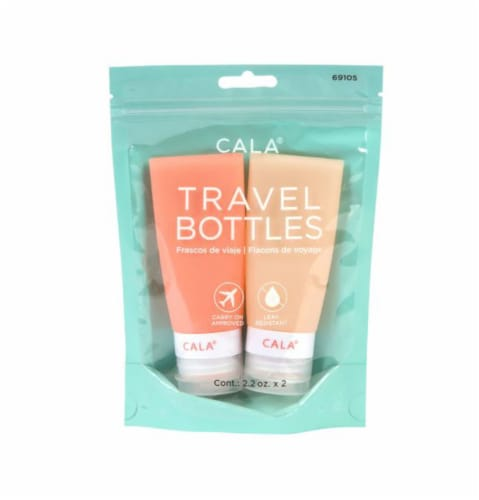CALA Silicone Travel Bottles - Coral Perspective: front