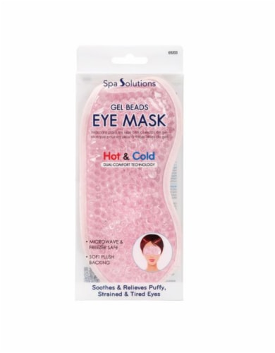 Cala Spa Solutions Pink Gel Beads Eye Mask Perspective: front
