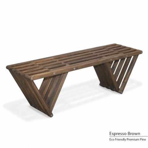 GloDea Bench X60, Espresso Brown Perspective: front
