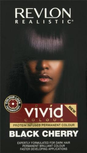 Revlon Realistic Black Cherry Vivid Hair Color Perspective: front