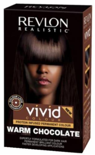 Revlon Realistic Vivid Colour Warm Chocolate Permanent Hair Color Perspective: front
