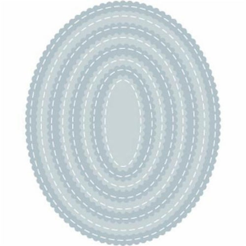 Tutti Designs - Scalloped Stitched Nesting Ovals Perspective: front