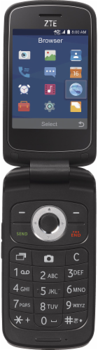 TracFone ZTE Z232 TL Prepaid Flip Phone - Gray Perspective: front