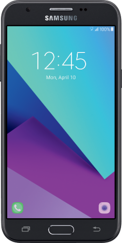 Simple Mobile Samsung Galaxy J3 Luna Pro LTE Prepaid Android Smartphone - Black Perspective: front
