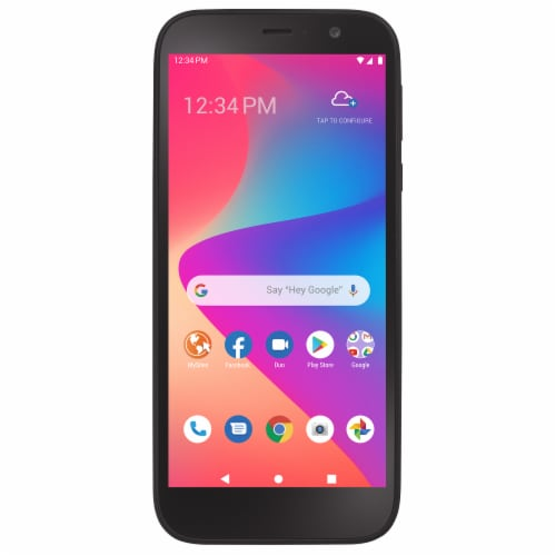 Total Wireless BLU View 2 Non-Contract Phone - Black Perspective: front