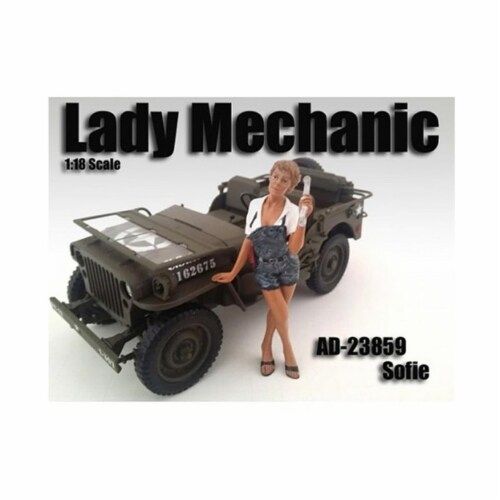 American Diorama 23859 Lady Mechanic Sofie Figure for 1-18 Scale Models Perspective: front