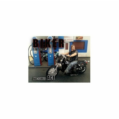American Diorama 23865 Biker Ace Figure for 1-18 Scale Models Perspective: front