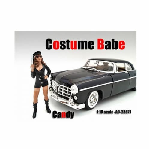 American Diorama 23871 Costume Babe Candy Figure for 1-18 Scale Models Perspective: front