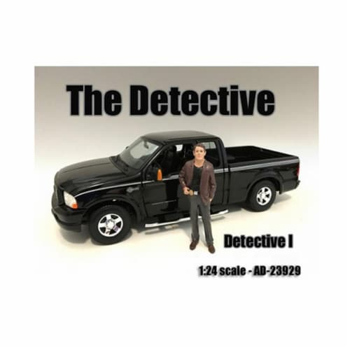 American Diorama 23929 The Detective No.1 Figure for 1-24 Scale Models Perspective: front