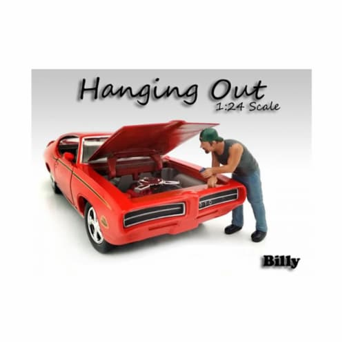 American Diorama 23958 Hanging Out Billy Figure for 1 isto 24 Diecast Model Car Perspective: front