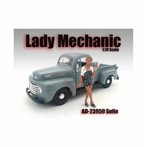 American Diorama 23959 Lady Mechanic Sofie Figure for 1-24 Scale Models Perspective: front