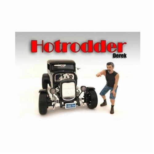 American Diorama 24027 Hotrodders Derek Figure for 1-24 Scale Models Perspective: front