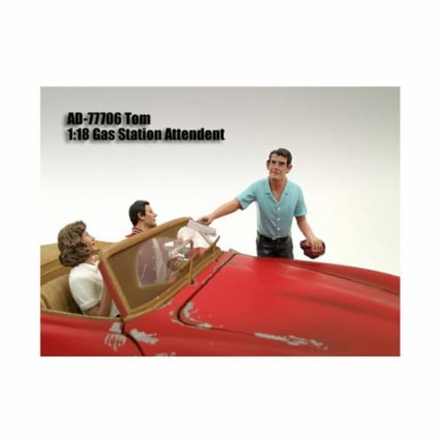 American Diorama 77706 Gas Station Attendant Tom Figure for 1-18 Diecast Model Cars Perspective: front