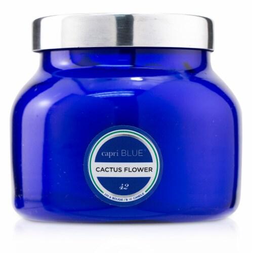 Capri Blue Blue Jar Candle  Cactus Flower 226g/8oz Perspective: front
