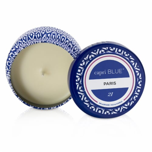 Capri Blue Printed Travel Tin Candle  Paris 241g/8.5oz Perspective: front