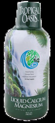 Tropical Oasis Calcium Magnesium Perspective: front