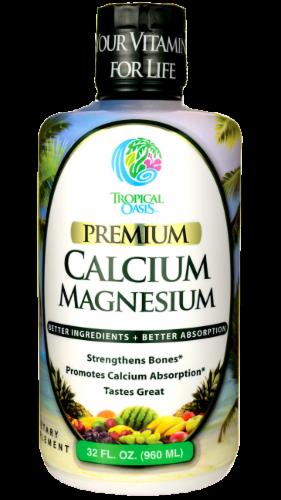 Tropical Oasis Premium Calcium Magnesium Dietary Supplement Perspective: front