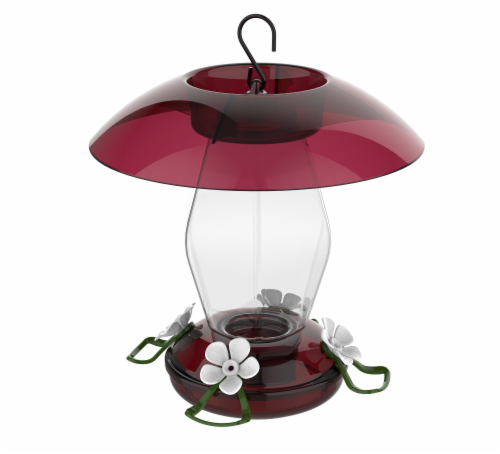 Stokes Select Red/Clear Jubilee Hummingbird Feeder Perspective: front