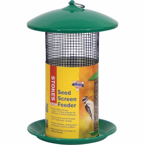 Stokes Select Seed Screen Bird Feeder - Green Perspective: front
