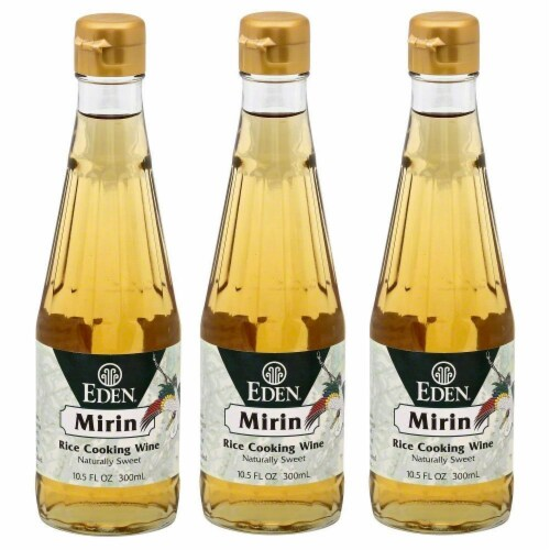 Eden Mirin Rice Cooking Wine 10.1 Ounce - Pack 3 Perspective: front