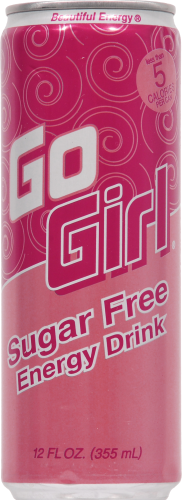 Go Girl Energy Drink Perspective: front