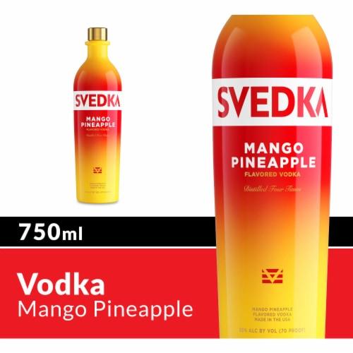 Svedka Mango Pineapple Flavored Vodka Perspective: front