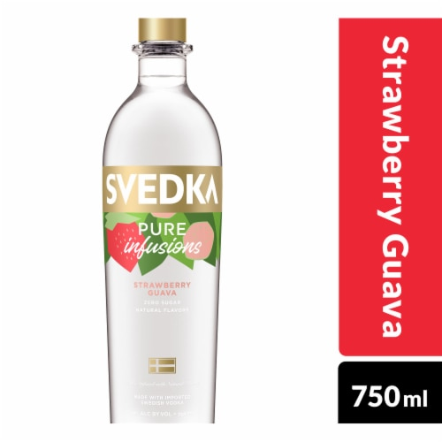 Svedka Pure Infusions Strawberry Guava Flavored Vodka Perspective: front