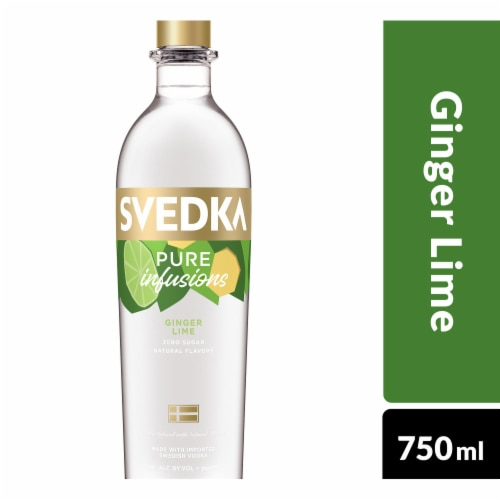 Svedka Pure Infusions Ginger Lime Flavored Vodka Perspective: front