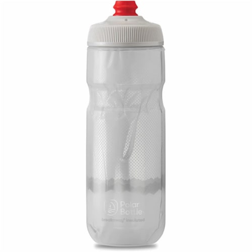 Polar Bottle 341296 B-Away Insulated Bottle, Ridge White & Silver - 20 oz Perspective: front