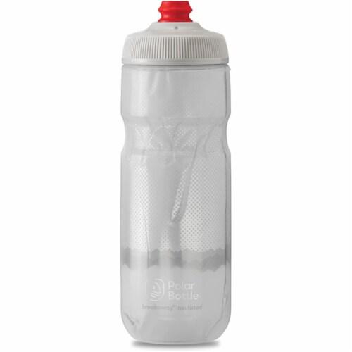 Polar Bottle 341297 B-Away Insulated Bottle, Ridge Blue & Silver - 20 oz Perspective: front