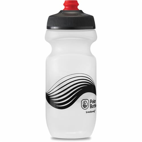 Polar Bottle 341317 Breakaway Bottle, Wave Blue & Charcoal - 24 oz Perspective: front