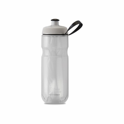 Polar Bottle 341308 Sport Insulated Bottle, Fade White & Silver - 24 oz Perspective: front