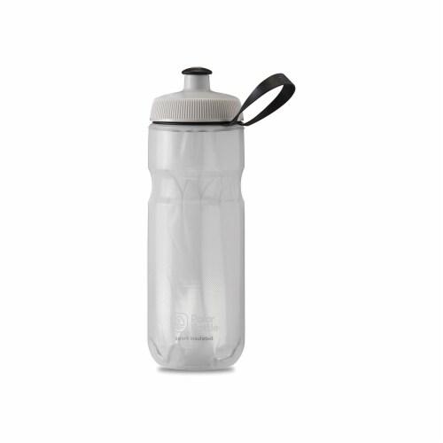 Polar Bottle 341307 Sport Insulated Bottle, CTNDR White & Silver - 20 oz Perspective: front