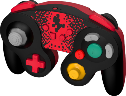Power A Wireless GameCube Style Controller for Nintendo Switch - Red/Black Perspective: front