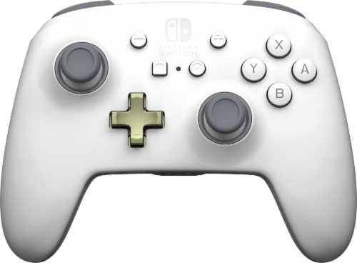 Power A Enhanced Wireless Controller for Nintendo Switch - White Perspective: front