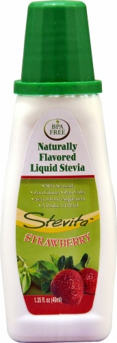 Stevita  Naturally Flavored Liquid Stevia   Strawberry Perspective: front
