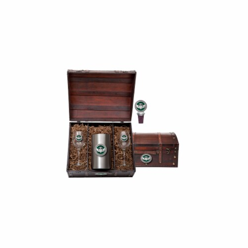 Heritage Metalworks Wine Chest Set - Claddagh Perspective: front