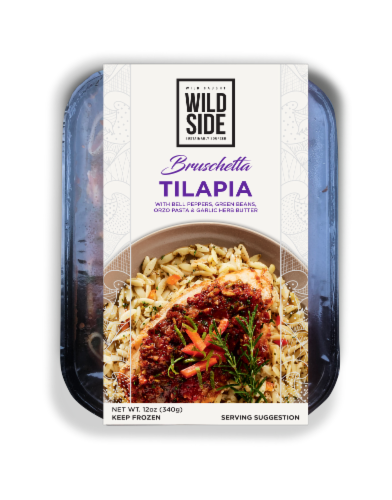 Wild Side Bruschetta Tilapia with Orzo Pasta Perspective: front
