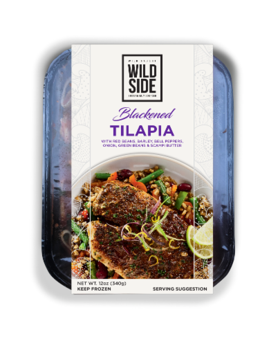 Wild Side Blackened Tilapia with Red Beans Perspective: front