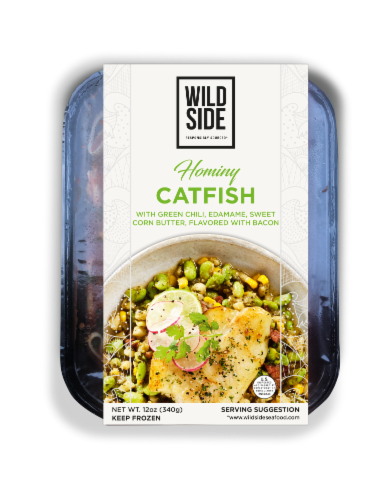 Wild Side Hominy Catfish with Green Chili Perspective: front