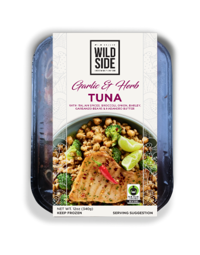 Wild Side Garlic & Herb Tuna with Italian Spices Perspective: front