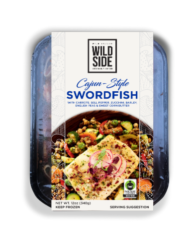 Wild Side Cajun-Style Swordfish with Sweet Corn Butter Perspective: front
