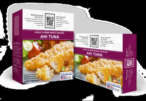 Wild Side Garlic & Herb Panko Crusted Ahi Tuna Perspective: front