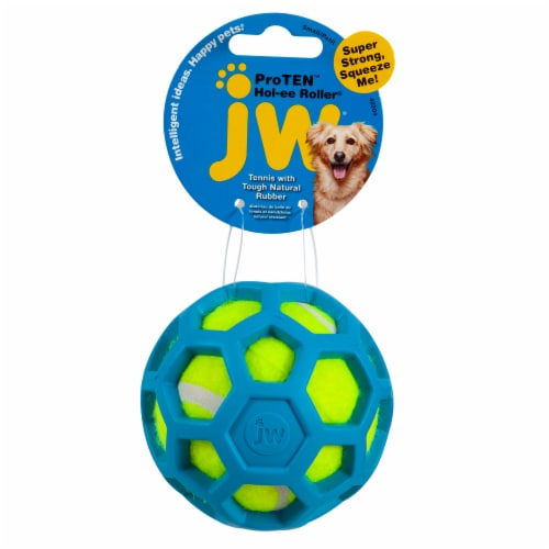 Petmate ProTen Hol-ee Roller Tennis Ball Rubber for Large Dogs Perspective: front