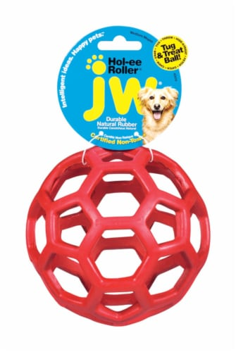 JW Pet JW Pet Holee Roller Tug and Treat Ball Perspective: front