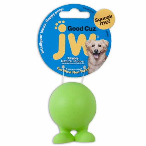 JW Pet Company Small Good Cuz Dog Toy Perspective: front
